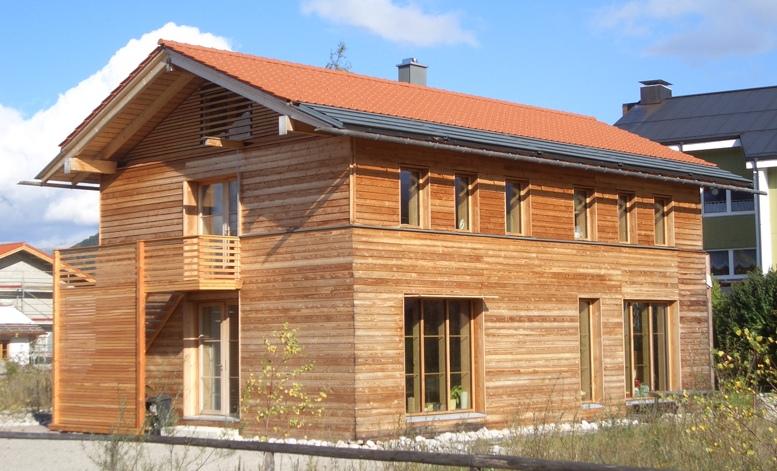Holzskelettbau wandaufbau  Architekt Alexander Otte - Passivhaus Lenggries